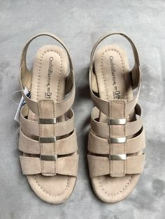 9a6bf4801e94 Slide into style with these Croft   Barrow Poppins sandals. Open toe  Slip-on.