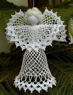 Výsledek obrázku pro anjos de natal em croche