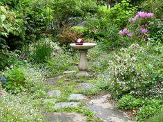 one photo English garden landscape design ideas Cottage Garden Path S. Brick Garden, Garden Paths, English Country Gardens, Woodland Garden, Front Yard Landscaping, Landscaping Ideas, Walkway Ideas, Path Ideas, Garden Landscape Design