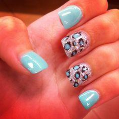 My cheetah printed nails. :)
