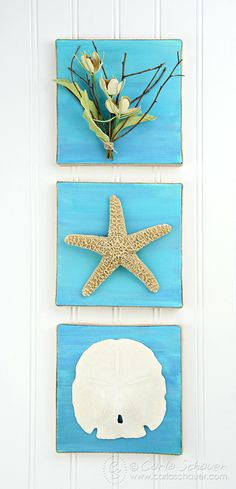 Create customized canvas art for your coastal home or beach house with this great tutorial for coastal themed canvas artwork. It is simple and easy.