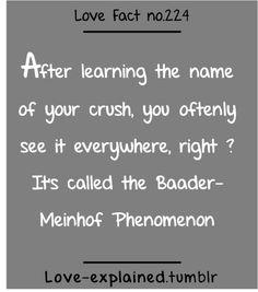 Love facts (crush,psychology,phenomenon,lol,funny,relatable,sotrue,so true,love,crush)