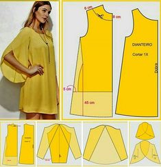 Easy sewing tips are available on our website. Check it out and you wont be sorry you did. Dress Sewing Patterns, Clothing Patterns, Fashion Sewing, Diy Fashion, Moda Fashion, Sewing Sleeves, Costura Fashion, Sewing Blouses, Pattern Cutting