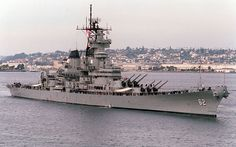 """USS New Jersey (BB 62) """"Big J"""" or """"Black Dragon"""" - commissioned 1943, earned 19 battle stars, served in WWII, Korean War, Vietnam. Now a museum ship in Camden NJ."""
