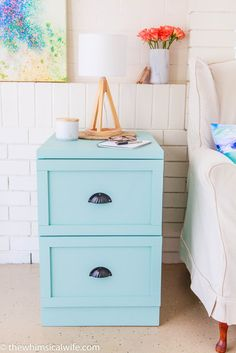 Transform an old metal filing cabinet                                                                                                                                                                                 More