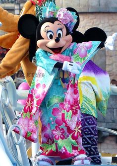 Minne in Kimono at Disney Sea, New Year 2014