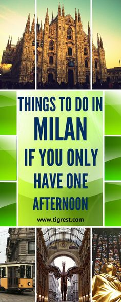 How to spend few hours in Milan italy? Best places to visit, things to eat and tips how to get to/from bergamo airport