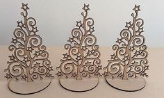 Laser cut mdf 3 Large Christmas trees. • £5.00