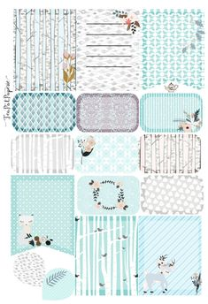 Silver Woods woodland full Weekly Kit planner sticker for