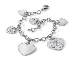 Heart Charm Bracelet in Sterling Silver #BlueNile