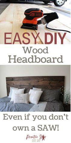 Easy DIY Wood Headboard Instructions | Primitive Star Quilt Shop