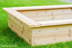 Garden bed edges to sit