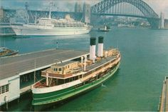 Manly Ferry Dee Why at Circular Quay Old Photos, Vintage Photos, Sydney Ferries, Sydney City, Historical Images, The Old Days, Tall Ships, Live In The Now, Public Transport
