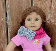 Crochet Patterns Galore - 18 inch Doll Infinity Bow Scarf