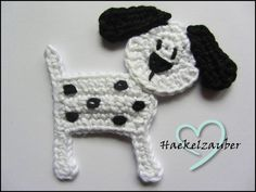 Puppy Dog Crochet applique - for my little girl's handbag?