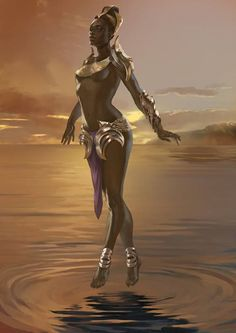 """""""Egyptian Goddess [Newet]"""", by Mira Katzunova. In the Ennead of Egyptian mythology, Newet (alternatively spelled Nut, Nuit, and Neuth) was the goddess of the sky. Her name is translated to mean 'sky' and she is considered one of the oldest deities among the Egyptian pantheon, with her origins being found on the creation story of Iunu (Heliopolis)."""
