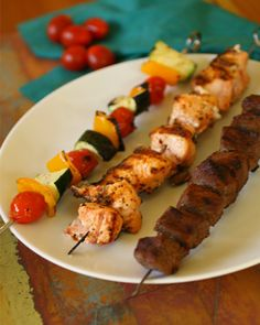 Something for everyone for Sunday Dinner: Land, sea and veggie kabobs