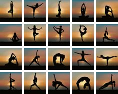 Yoga Positions Sunset