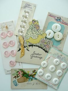 Vintage buttons and cards | Flickr - Photo Sharing!
