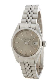 dca6aaaf552 Rolex Women s Date Stainless Steel Watch by Vintage Watches on  HauteLook  Vintage Rolex
