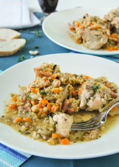 Pollo con lentejas y zanahorias - L´Exquisit*