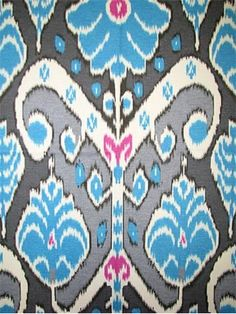 HGTV HOME FABRIC Market Marvel Peacock - cotton fine line twill, tribal ikat fabric, wonderful multi purpose home decorating fabric. Ikat Pattern, Ikat Pillows, Ikat Fabric, Blue Art, Hgtv, Fabric Design, Peacock, Pillow Covers, Kids Rugs