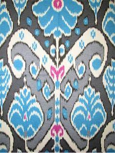 HGTV HOME FABRIC Market Marvel Peacock - cotton fine line twill, tribal ikat fabric, wonderful multi purpose home decorating fabric. Ikat Pattern, Ikat Pillows, Ikat Fabric, Blue Art, Hgtv, Fabric Design, Peacock, Pillow Covers, Marvel
