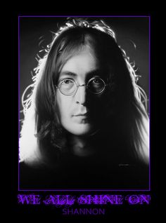 """Title: """"WE ALL SHINE ON""""  This is a painting, not a photograph or Photoshop creation. SHANNON used environmentally safe PPG Envirobase paint to create this painting of John Lennon for the SEMA SHOW in Las Vegas. (Airbrush and Electric Eraser)"""