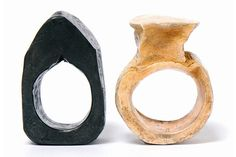 Bettina Dittlmann & Michael Jank's 'Foreverrings'   (2008) in steel (left) and silver (right)