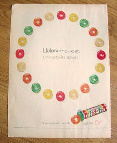1958 Life Savers Candy Ad Holesome-est Sweets in Town