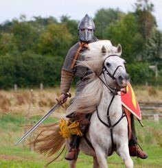 Viking and horse