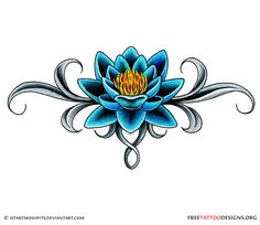 Lotus tattoo design in the lower back - Tattoos Lower Back Tattoo Designs, Free Tattoo Designs, Flower Tattoo Designs, Lower Back Tattoos, Tattoo Flowers, Lotus Flower Tattoos, Lotus Flower Tattoo Meaning, Lotus Tattoo Design, Blue Lotus Tattoo