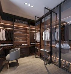 The best of luxury closet design in a selection curated by Boca do Lobo to inspire interior designers looking to finish their projects. Discover unique walk-in closet setups by the best furniture makers out there. Explore our pieces at Walk In Closet Design, Bedroom Closet Design, Closet Designs, Wardrobe Furniture, Bedroom Wardrobe, Bedroom Furniture, Wardrobe Closet, Glass Wardrobe, Glass Closet Doors