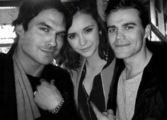 The Vampire Diaries | Ian Somerhalder (Damon), Nina Dobrev (Elena) and Paul Wesley (Stefan) - Too bad this is fake. Would have been nice to have one last real one.