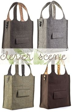 Sew an old suit into a cute bag