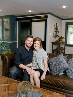 Chip and Joanna Gaines help a newly married couple create their ideal first home, turning a standard suburban '70s house into a romantic retreat that effectively blends styles, influences and textures.