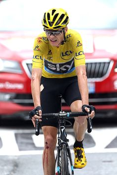 #TDF2016 Chris Froome of Great Britain and Team Sky crosses the finish line of stage 19 of the Tour de France 2016 a stage between Albertville and Saint...