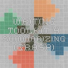 writing-toolkit - 4 Summarizing (GRASP)