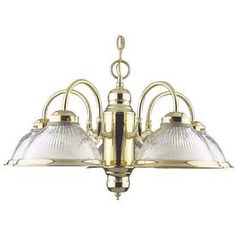 �Ashton 5-Light Polished Brass Chandelier