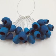 Thumbnail: Blue Cocoon Necklace by ROBIN GORDON -USA