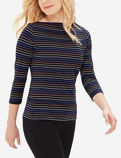 Striped Envelope Neck Top from THELIMITED.com