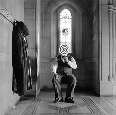 Rodney Smith (American, b. 1947) - 1: Gary Descending Stairs, 1995  2: Collin with Magnifying Glass, Alberta, Canada, 2004  3: Men with Boxes on Head, Brunswick, GA, 2001  4: Question Mark Picture, Longwood Gardens Pennsylvania, 1997  5: Unknown Title  6: Unknown Title  7: Untitled (Don Jumping Over Hay Roll No. 1), Monkton, Maryland, 1999    Photography, B/W