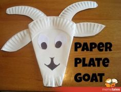 Two simple plates made a cute goat. Created by JDaniel4's Mom for MemeTales.  Books: G is for Goat by Patricia Polacco and Little Apple Goat by Caroline Church