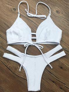 Assortiment de Bikini découpé sans doublure - Blanc M