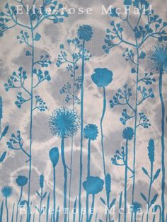 Ellie-rose McFall- Hand dyed and printed sample for my FM The Past, Printed, Rose, Projects, Home Decor, Log Projects, Pink, Blue Prints, Decoration Home