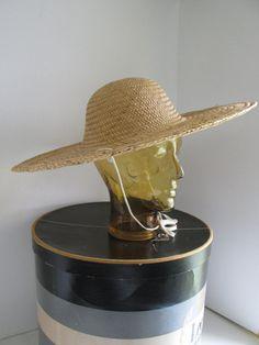 Wide Brim Summer Hat Womens Straw Hat Summer by ReVintageBoutique