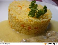 Přílohový kuskus s kořenovou zeleninou recept - TopRecepty. Korn, Cornbread, Baked Potato, Muffin, Potatoes, Baking, Breakfast, Ethnic Recipes, Bulgur