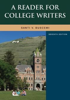 A #Reader For #College #Writers by #Santi #Buscemi…