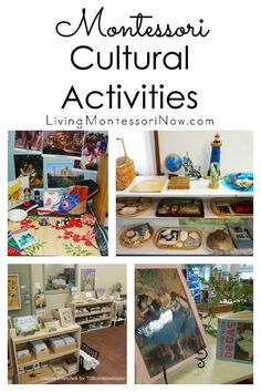 An overview of the Montessori cultural curriculum with geography, history, physical science, botany and zoology, music, and art activities; post includes lots of resources - Living Montessori Now