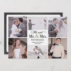 New Mr and Mrs EDITABLE COLOR Thank You Card - wedding thank you gifts cards stamps postcards marriage thankyou Photo Thank You Cards, Thank You Photos, Custom Thank You Cards, Photo Cards, Wedding Thank You Postcards, Wedding Cards, Wedding Album, Luxury Wedding Venues, Mr And Mrs Wedding
